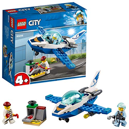 LEGO City PattugliamentodellaPoliziaAerea, Giocattoli Facili da Costruire per Bambini, 60206