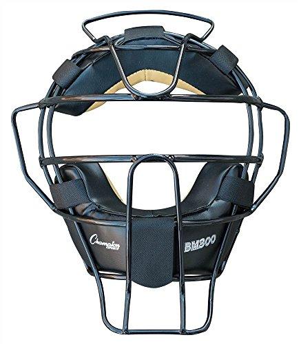 Champion Sports Ultra Lightweight Baseball Umpire Face Mask, Black (BM300BK)