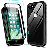 LeYi Full-Body Shockproof Hybrid Case for iPhone SE 2020 with 2-Pack Tempered Glass Screen Protector