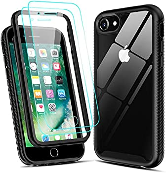 LeYi Hybrid Case for iPhone SE with 2 Tempered Glass Screen Protectors
