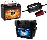 VMAX857 & BC1204 &U1 Box PKG 12 Volt 35Ah SLA AGM Deep Cycle Group U1 Battery U1...