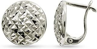 LeCalla Sterling Silver Jewelry Omega Back Earrings for Women Teen