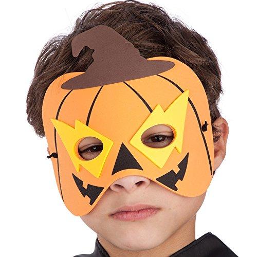 Carnival 00547 – Citrouille Masque pour Enfant, Eva, en enveloppe avec Serrage
