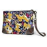 Hdadwy Bracelet sac à main Shiba Inu chien motif en cuir bracelet pochette portefeuille pour femmes...