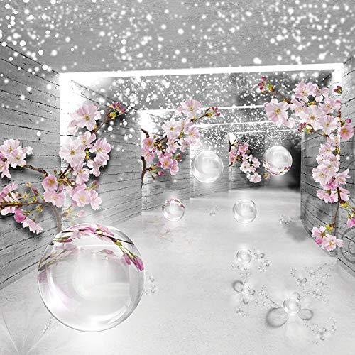 Forwall Fototapete Vlies Wanddeko Tunnel 3D - Raumerweiterung Effekt Moderne Wanddekoration 3360VEXXXL 416cm x 254cm