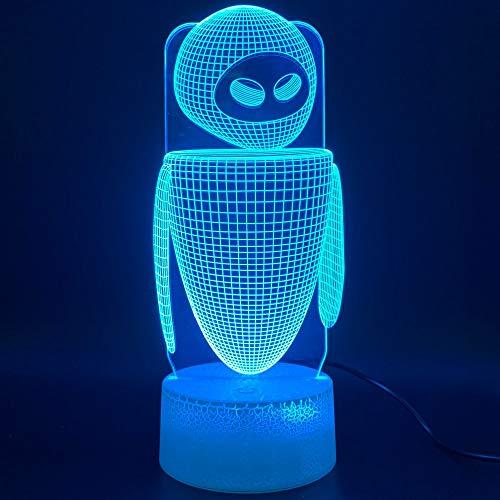 Nur 1 Stück 3d Led Nachtlicht Lampe Film WAND E 2 Roboter Eva Figur Lampara Licht Home Decoration Geburtstagsgeschenk für Kinder Baby Nachtlicht