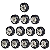 [13pcs/Pack] POM Pulley V Slot Wheels 625zz Linear Bearing Pulley Passive Round Wheel Roller for Creality CR10, Ender 3, Anet A8, Artillery X1 3D Printer Accessories