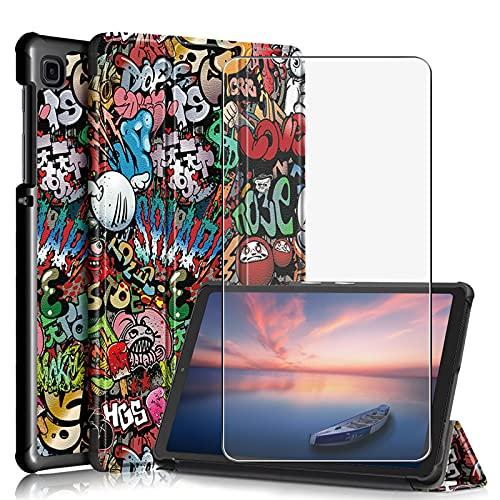 JIENI Funda para Samsung Galaxy Tab A7 Lite (8,7) Pulgadas (2021) SM-T220, SM-T225, Funda Protectora anticaídas, Funda estabilizadora magnética + 1 Pieza de Protector de Pantalla