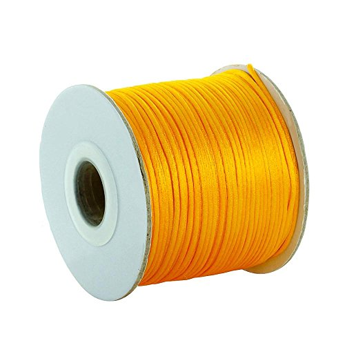Fantastic Deal! Amazing DIY Ideas for Bracelet Necklace Jewelry Making with Gold Yellow Nylon Cord S...
