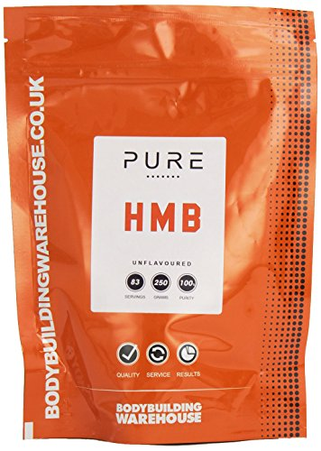 Bodybuilding Warehouse Pure HMB Powder 250g from Leucine - Amino Acid Supplements - Lean Muscle Growth & Recovery