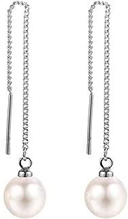 DSLK Dreamslink Fashion Long White Pearl Earrings