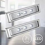 B.K.Licht I 2er Set LED Push-Light I Unterbaulampe I Werkstattlampe I Touch-Lampe I...