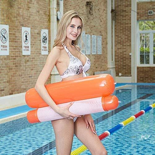 Piscina plegable, lecho flotante de la piscina inflable, hamacas flotantes, retroceso plegable cama flotante inflable doble juguetes de agua para adultos juguetes de fiesta (Color: i) Peng (Color: H)