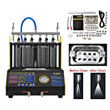AUTOOL CT-200 Ultrasonic Fuel Injector Cleaner & Tester, Automotive Cleaning Leakage Test Machine with 6 Cylinder for Car Motorcycle 110V/220V
