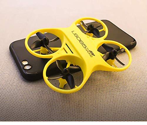 SDGSGSGDF beständig gegen fallende Mini-Fernbedienung Flugzeug Tasche vierachsigen Flugzeug Spielzeug Drohne Modell Hubschrauber gelb