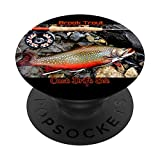 Brook Trout Vintage Fly Fishing Rod Reel Phone Cover Gift PopSockets Grip and Stand for Phones and Tablets