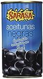 Sarasa Aceituna Negra con Hueso Cacereñas Baja en Sal - Paquete de 12 x 370 gr - Total: 4440 gr