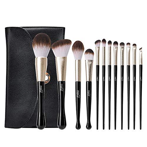 12 Pinceaux De Maquillage Sirène Professionnel Outil De Maquillage Brosse De Fard À Paupières Outil 5.91 * 9.84In (Noir)