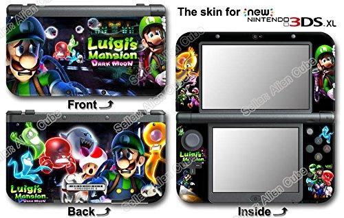 Luigi 's Mansion Dark Moon Hot Skin Sticker Cover Decal for NEW Nintendo 3DS XL