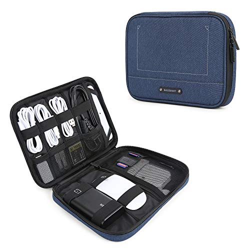 BAGSMART Electronic Organizer Travel Cable Organizer Electronics Accessories Cases for 7.9'' iPad Mini, Cables, Chargers, USB, SD Card