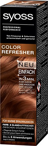 Syoss Color Refresher Haarfarbe, Warme Braunnuancen, 3er Pack (3 x 75 ml)