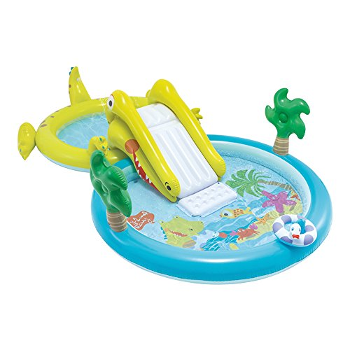 Intex - centrum van games waterpark met glijbaan - 180 pool en 132 liter) (57164)