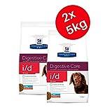 Hills Prescription Diet i/d Stress Mini Digestive Care 5 kg, comida para perro seco – Pollo (Pack de 2)