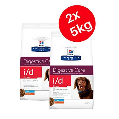 HILL'S PRESCRIPTION DIET Hills Prescription Diet i/d Stress Mini Digestive Care 5kg Trockenfutter für Hunde–Huhn (2Stück)