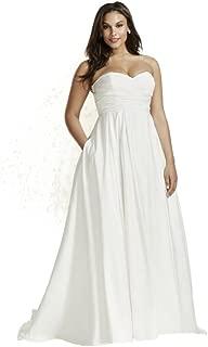 faille empire waist wedding dress
