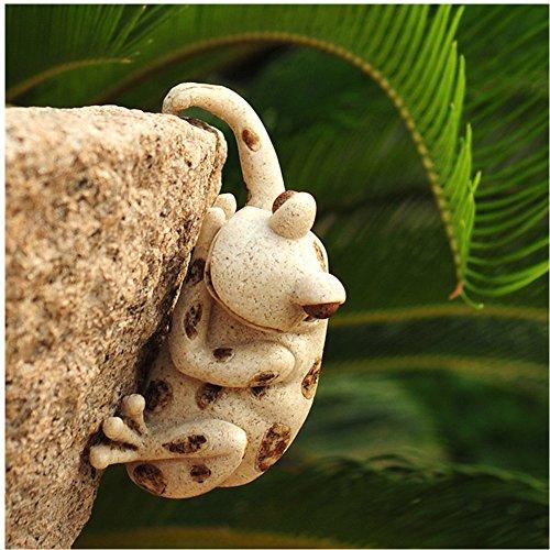 Grenouille sur N/énuphar N/énuphar Animaux rouille patine rouille Figurine D/écoration /étang D/écoration de jardin terrasse Id/ée de D/écoration pour F/ête des M/ères roi grenouille