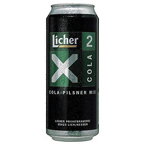 Licher X 2 Cola Pilsener + Cola, 24er Pack, 24 x 0,5 L