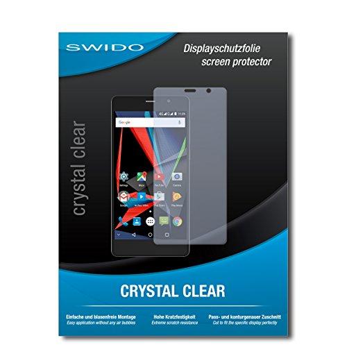 SWIDO Schutzfolie für Archos 55 Diamond Selfie Lite [2 Stück] Kristall-Klar, Hoher Festigkeitgrad, Schutz vor Öl, Staub & Kratzer/Glasfolie, Bildschirmschutz, Bildschirmschutzfolie, Panzerglas-Folie