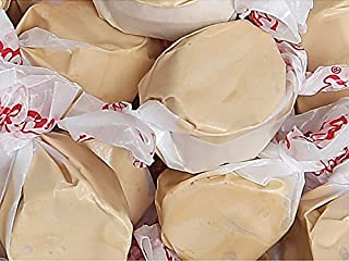 Maple Gourmet Salt Water Taffy Light Brown Wrapped Chewy Candy 1 LB - 16 oz