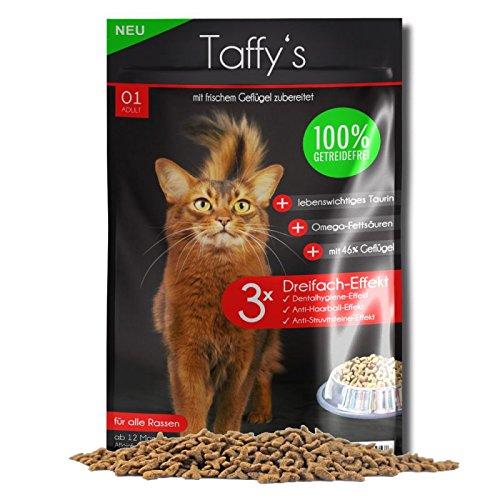 Taffy´s Katzenfutter Getreidefrei Geflügel Trockenfutter (700 g + (210 g Gratis))