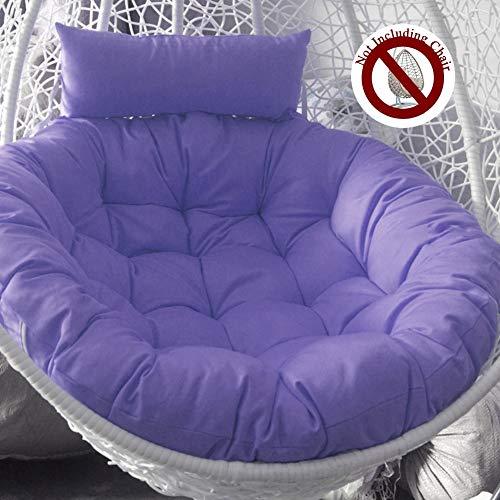 HYXQYZZ ligstoel, hangende mand, zitkussen, 105 cm, grote hangmat, sofakussen, comfortabele zitkussens, van dik katoen, ritssluiting, afneembaar, wasbaar