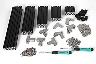 MakerBeam XL Regular Starter Kit black anodized including beams, brackets, nuts and bolts