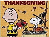 Puzzle Charlie Brown Snoopy Día de Acción de Gracias 500 piezas rompecabezas para adultos y familias regalo