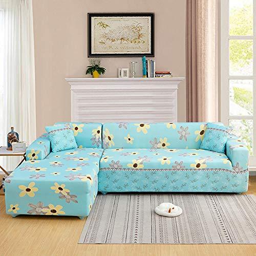 Funda de sofá bellamente Impresa 1 plaza, funda para sofá, funda para sofá, funda elástica para sofá para sala de estar, esquina para mascotas, funda para sofá en forma de L, chaise longue