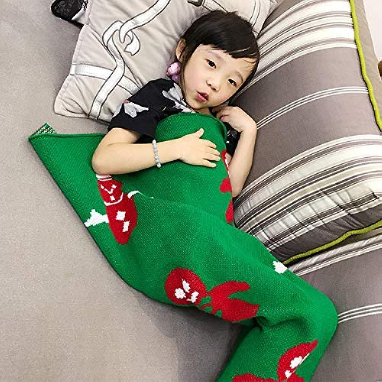 JINGB Home Mermaid Knit Mermaid Tail Birthday Gift Sofa, Green, 140  70cm (55  27.5 inch) (color   The Green, Size   140  70cm)