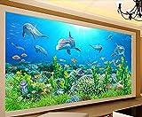 Fotomurales3DPapelPintado Acuario De Algas Marinas Del Mundo Submarino Murales3DPapelTapizDecorativos Wallpaper