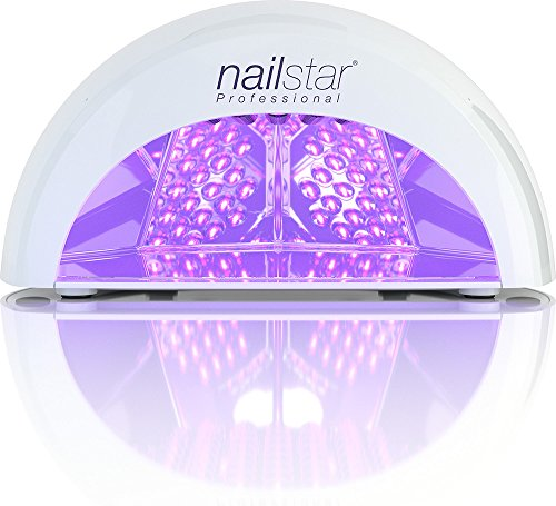 NailStar Lámpara LED Profesional Seca Esmalte de Uñas. Para Manicura Shellac y Gel, con Temporizador de 30 seg, 60 seg, 90 seg y 30 min (blanco)
