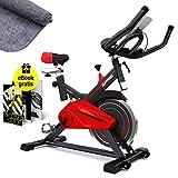 Sportstech Profi Indoor Cycle SX100 mit 13KG Schwungrad, Gepolsterter Armauflage, Komfortsattel, Pulsmessung - Speedbike mit flüsterleisem Riemenantrieb – inklusive gratis...