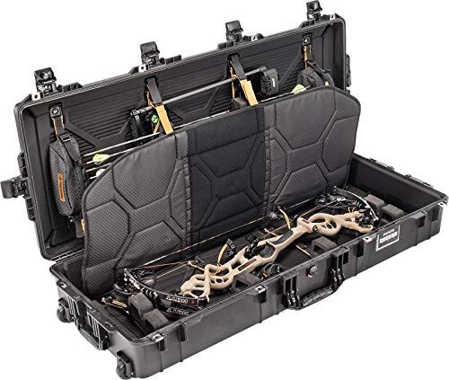 Black Pelican 1745 Air Bow case with Custom Interior & 2 TSA Locking latches.
