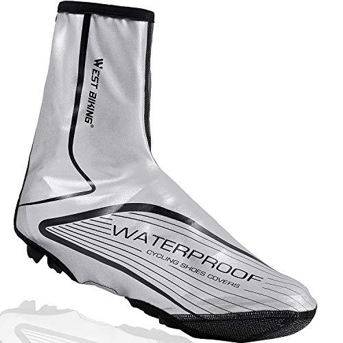LuTuo Überschuhe Fahrrad Radsportschuhe, Warm Winddicht Neopren High Visibility Regen Schnee Boot Protector Feet Gamaschen, 1 Paar