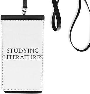 DIYthinkerShort Phrase Studying Literatures Phone Wallet Purse Hanging Mobile Pouch Black Pocket