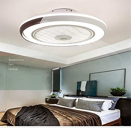 Ventilador de techo LED cerrado con luz, 50,8 cm, montaje semiempotrado, invisible, con control remoto, regulable, 3 velocidades...