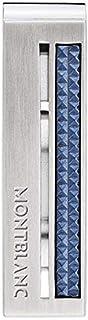 Montblanc Fermasoldi in acciaio pregiato con inserto blu lavorato 123807
