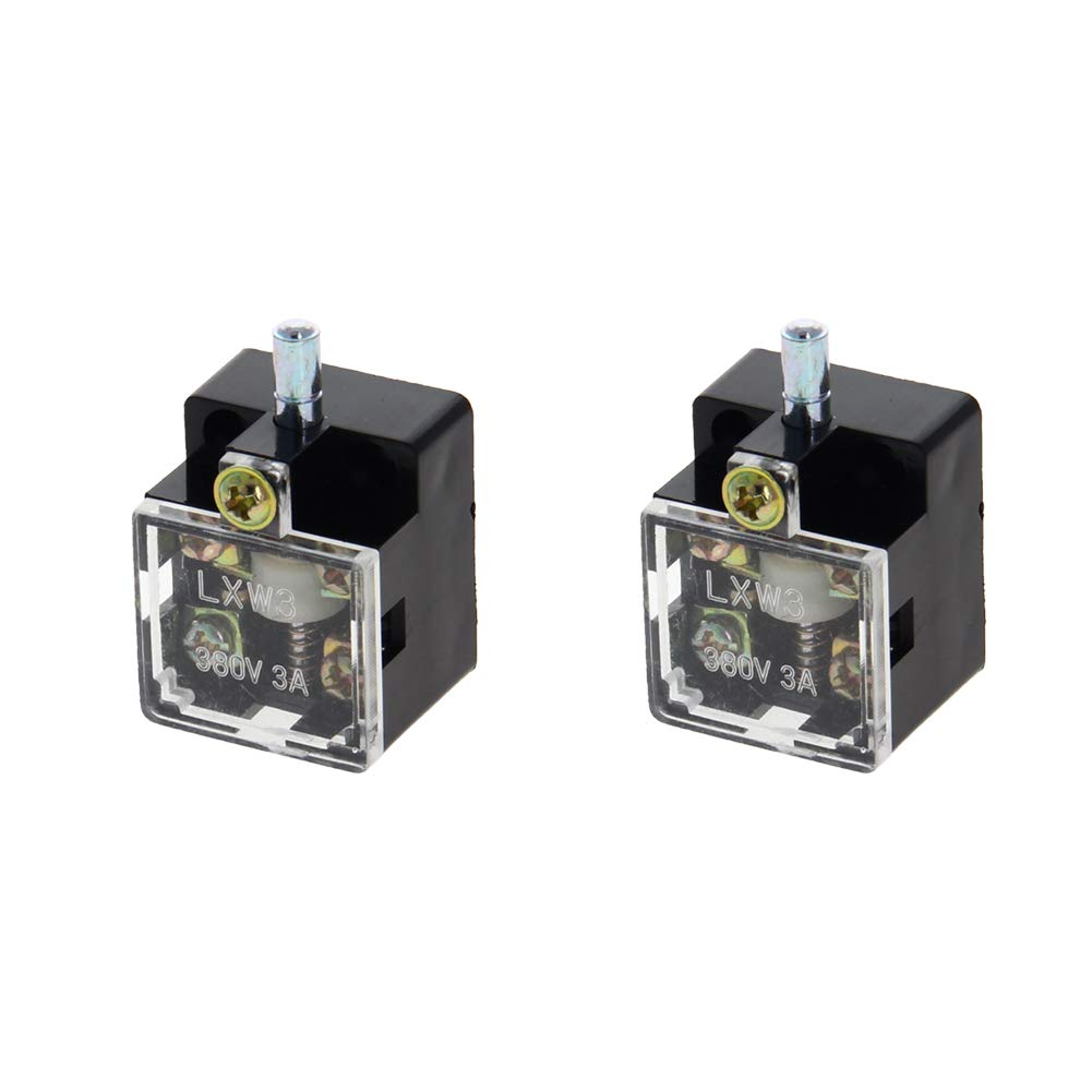 Fielect LXW3 1NO 1NC Spring Plunger Limited price sale Black Limit 2PCS Max 68% OFF Switch
