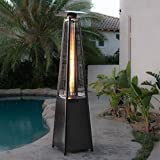 """GJBHD Pyramid Patio Propane Heater,Tower Flame Heater With Wheels,Portable Outdoor And Patio Natural Gas Heater-Black 87""""x45""""x24""""/220x114x62"""