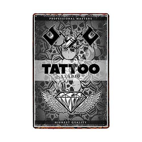 Jinlyp Estudio de Tatuaje clásico, Cartel de Chapa de Metal, Arte Retro, Sala de Estar, decoración del hogar, Cartel de Metal, 20x30 cm 12